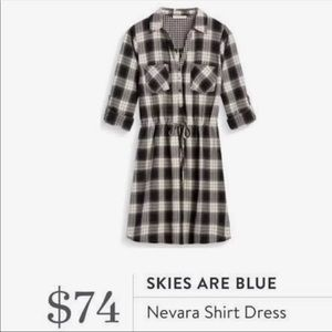 Stitch Fix Skies are Blue Plaid Dress